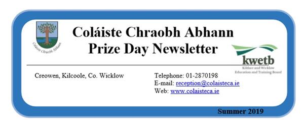 Prize Day Newsletter May 2019
