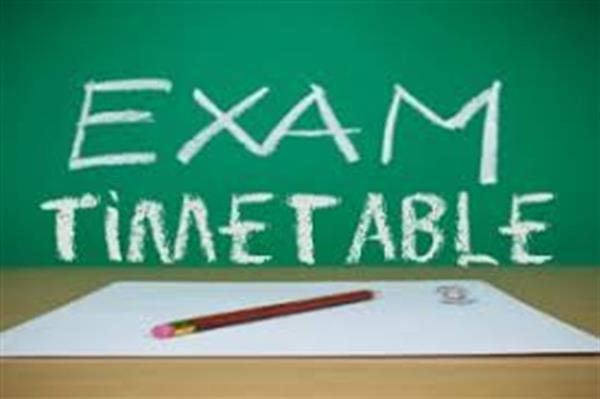 Summer Exam Timetables