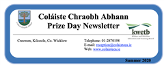 Prize Day Newsletter