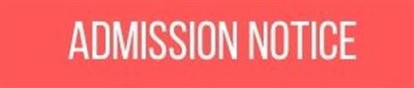 Admissions Notice
